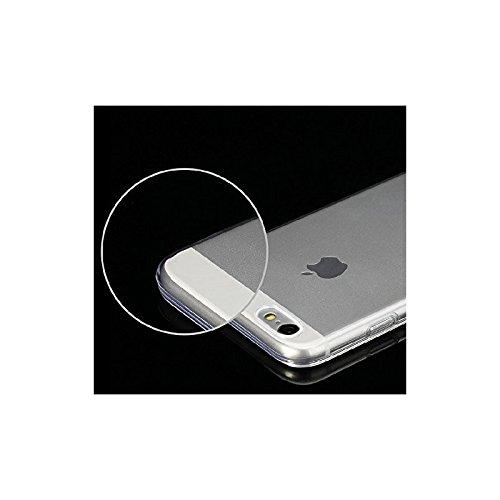 Coque2mobile® TPU Silicone Housse Coque Etui Gel Case Cover pour Apple iPhone 6, écran 4.7 pouces Transparent