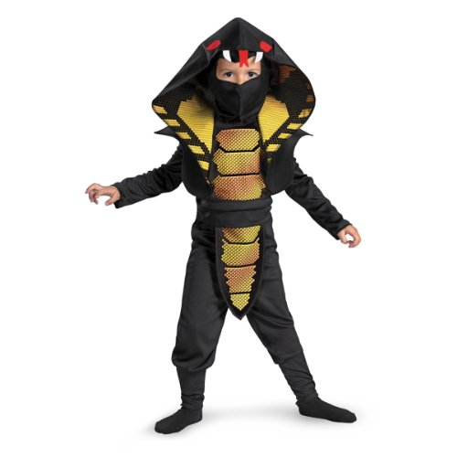 Cobra Ninja Boys Costume, 4-6 (Snake Costume For Kids)