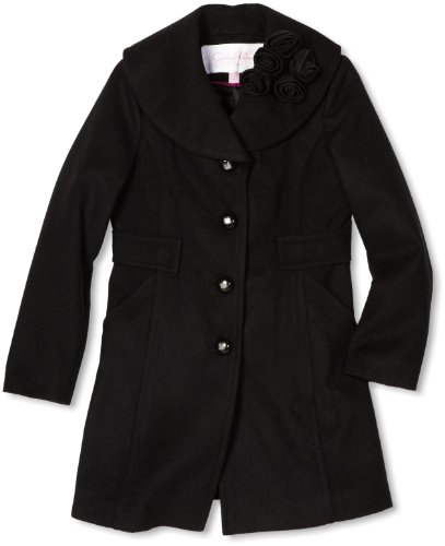 Jessica Simpson Coats Big Girls'  Rosette Collar Coat