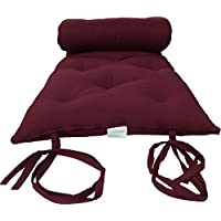 Brand New Queen Size Burgundy Traditional Japanese Floor Futon Mattresses, Foldable Cushion Mats, Yoga, Meditaion 60 Wide X 80 Long