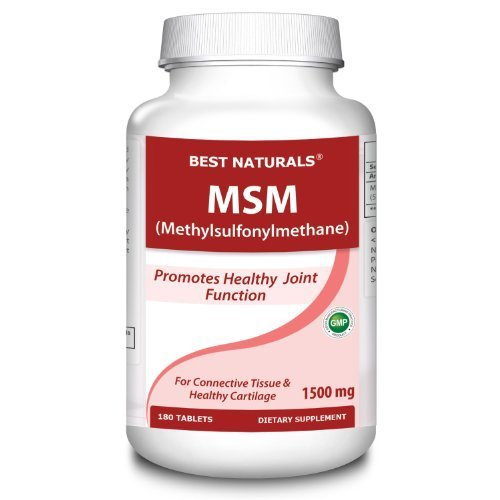 MSM 1500 mg 180 Tabs -- Supports Healthy Joints -- Gluten Free, Non-GMO -- Manufactured in a USA Based GMP Certified Facility and Third Party Tested for Purity. Guaranteed!! by - Upper 3rd Link