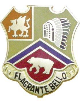 83rd Field Artillery Unit Crest (Flagrante Bello) Belle Crest