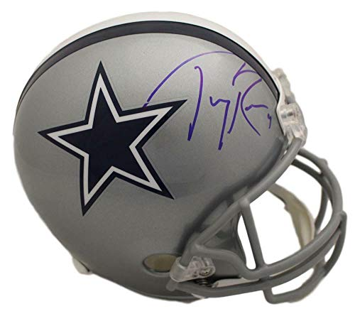 (Tony Romo Autographed/Signed Dallas Cowboys Replica Helmet BAS)