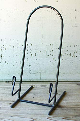 Set of 4 Heavy Iron Plate Stand 15 Inches Tall