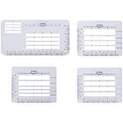 4 Styles Envelope Addressing Guide Stencil Lettering Aid Templates, Ruler Straight Guide for Envelopes, Sewing, Scrapbooking, Crafting, Christmas Birthday Thank You Cards