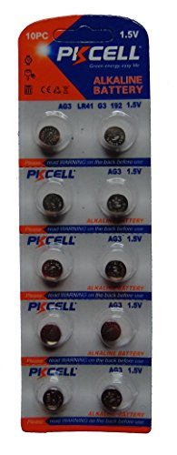(10) Button Cell Batteries: 1.5V - AG3 - LR41 - G3-192