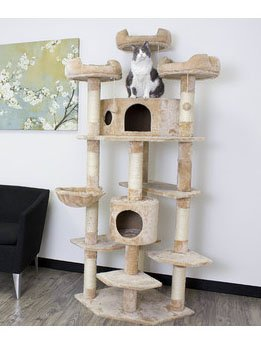 Extra Large Climbing Cat Tree Furniture for Active Cats, Beige