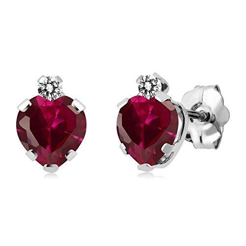 Diamond 925 Sterling Silver Earrings - 1