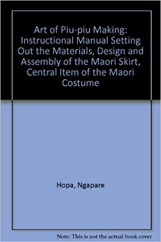 Art Of PiuPiu Making Instructional Manual Setting Out The