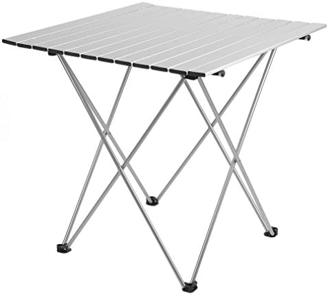 Holarose Portable Folding Camping Table, Ultralight Aluminum Outdoor Compact Table Folding Camping Collapsible Table Picnic Dining Desk for Outdoor Camping Picnic BBQ Beach Fishing