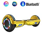 NHT 6.5' Chrome Hoverboard Two-Wheel Electric Smart Self Balancing Scooterwith Bluetooth Speaker & Sidelights - UL2272 Certified,...