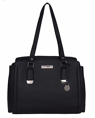 Kenneth Cole Reaction Franny Satchel Handbag (Black)