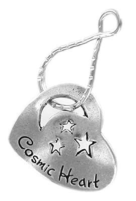Cosmic Heart Moon & Stars Blessing Ring Keychain