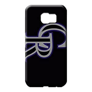 samsung galaxy s6 edge Classic shell Anti-scratch High Grade cell phone case colorado rockies mlb baseball