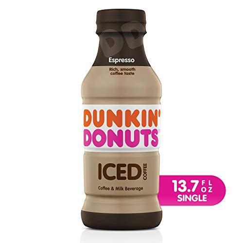 Dunkin Donuts Espresso Iced Coffee Bottle, 13.7 fl oz