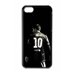 iphone5c Phone Case,Messi HD background design, fashion, lightweight dust Phone Case(Hard shell,Black)