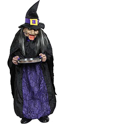 Halloween Decoration Electric Horror Props Toys Housekeeper Witch