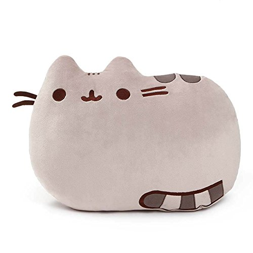 (GUND Pusheen Cat Plush Stuffed Animal Pillow, Gray, 16.5