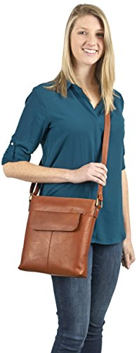 Claire Chase Women's Conceal Carry Handbag Shoulder Bag, Saddle, One Size