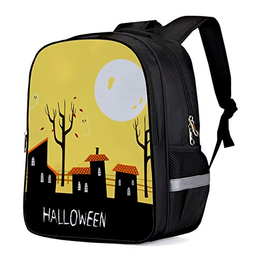 School Backpack Bookbag for Girls Kids Teen Halloween Ghost Town Book bags Breathable Back Pack 13 Inch ()