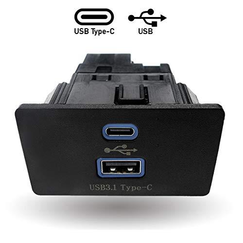 HX Dual USB Interface Module for Ford Lincoln Apple Carplay SYNC3,USB Type-C Interface Hub,Only 3.4 Version, HC3Z-19A387-B Blue