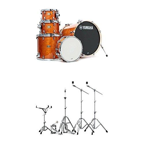 (Yamaha Stage Custom Birch Standard Drum Kit with Hardware, Honey Amber)