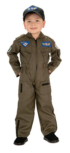 Air Force Pilot Costume (Rubies Young Heroes Air Force Fighter Pilot Child Costume, Small, One Color)