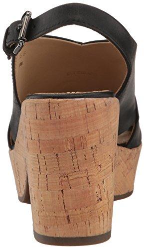 Geox D724SB000LC, Sandalias de tacón Mujer Negro (BLACKC9999)