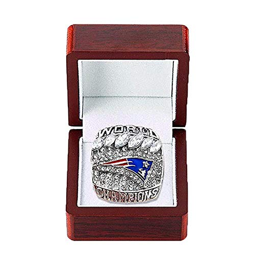 (HASTTHOU 2019 New England Patriots Championships Ring Collectible Gift Fashion Football Championship Ring (12))