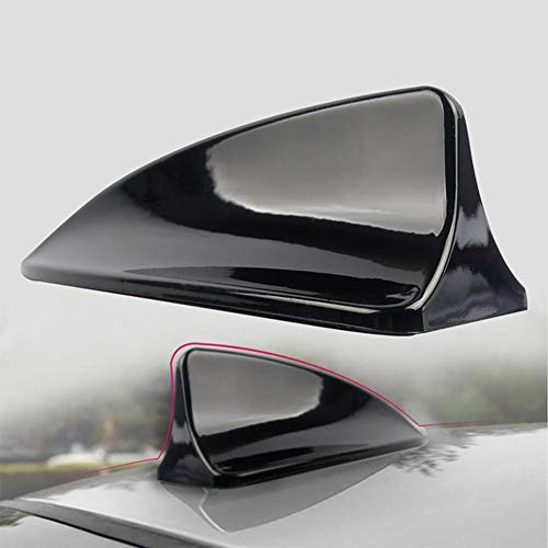 FOLCONROAD Universal Auto Car Shark Fin Roof Antenna Radio FM/AM Decorate Aerial Cover ()