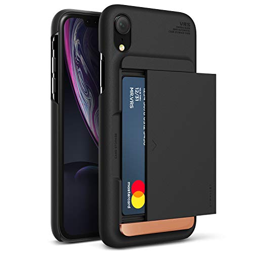 iPhone XR Case, VRS Design [Damda Glide x D.Wallet] Semi-Automatic Gliding Wallet Soft Feel Coating ()