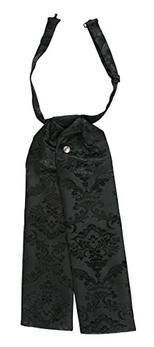 Historical Emporium Men's Satin Jacquard Puff Tie Black -