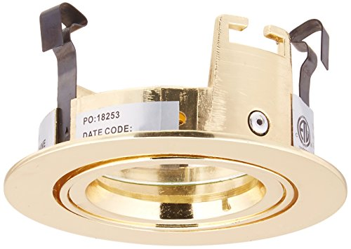 Eurofase TE90-03 3-Inch Adjustable Gimbal Ring Trim, Gold (3 Light Mr16 Gimbal Ring)