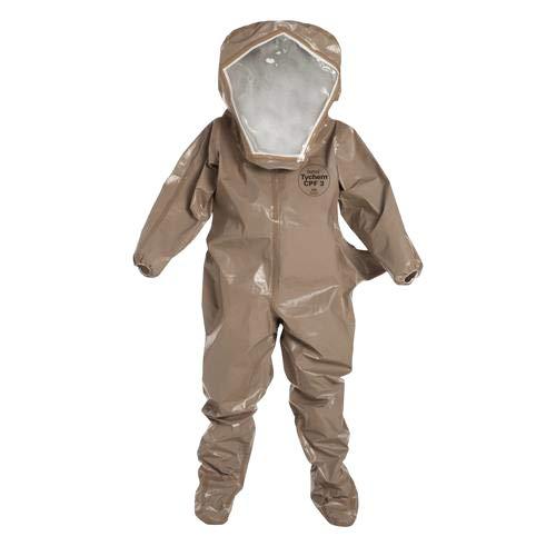 - Dupont C3526TTNMD000600 Tychem CPF 3 Encapsulated Level B Suit, Medium (Pack of 6)