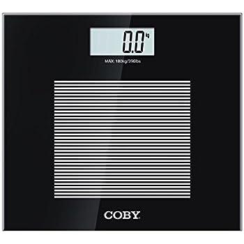 Amazon Com Coby Digital Glass Body Weight Bathroom Scale