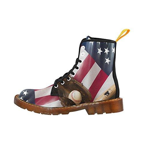 D-story Zapatos Baseball Lace Up Martin Botas Para Hombres