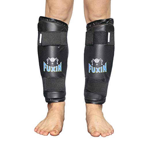 (Luwint Soft Shin Guards, MMA Shin Guards Boxing Leg Calf Pads Protection Support for Soccer Muay Thai Training Kickboxing (Medium))