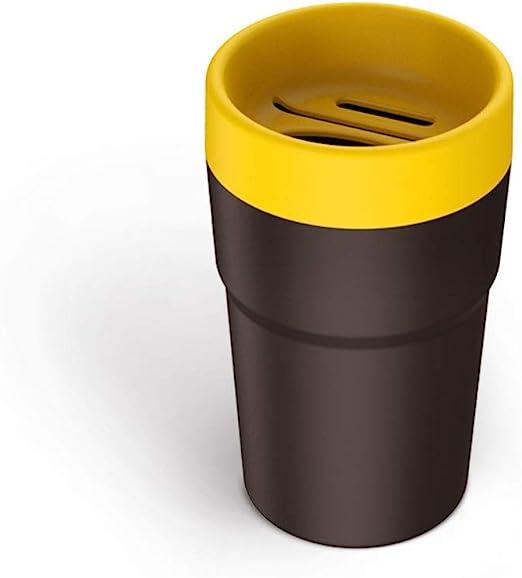 Car Rubbish Bin Mini Garbage Cup Holder Bin Automobile Waste Storage Ashtray Trash Can With Push Button yellow