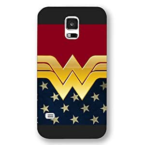 BESTER Onelee Wonder Women Custom Phone Case for Samsung Galaxy S5, DC comics Wonder Women Customized Samsung Galaxy S5 Case, Only Fit for Samsung Galaxy S5 (Black Frosted Shell)