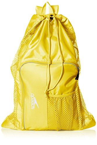 (Speedo Deluxe Ventilator Mesh Equipment Bag, Blazing Yellow, 1SZ)