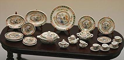 5pc White Ceramic Serving Plates Dishes for 1//12 Dollhouse Miniature Kitchen