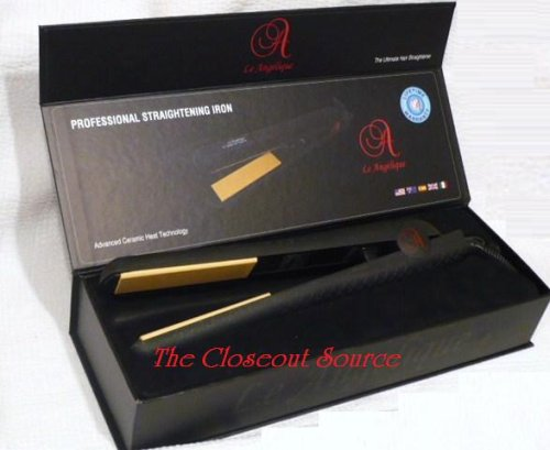 Le Angelique New Pro-Select 100% Solid Ceramic Hair Straightener