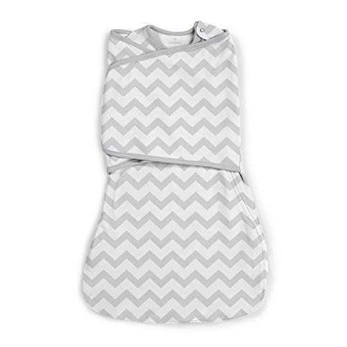 SwaddleMe Love Sack, Grey Chevron, Small ()