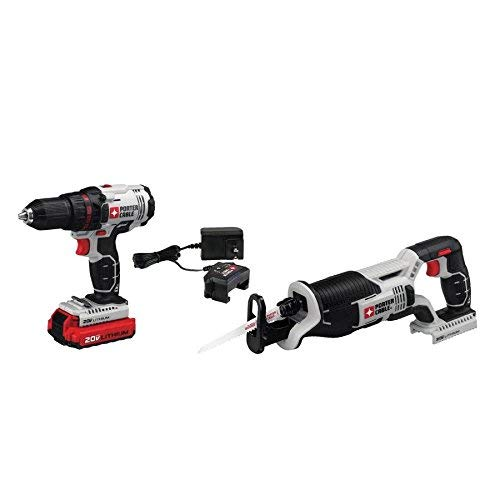 PORTER-CABLE PCCK603L2 20V Max Drill and Reciprocating Saw Combo Kit (Pack of 2)