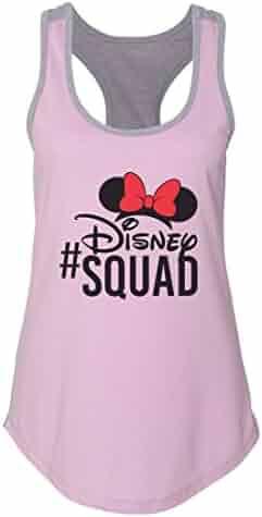 "3680d67b237fcc Funny Threadz Women s Two Toned Tank Top ""Disney Squad"" Workout Shirt"