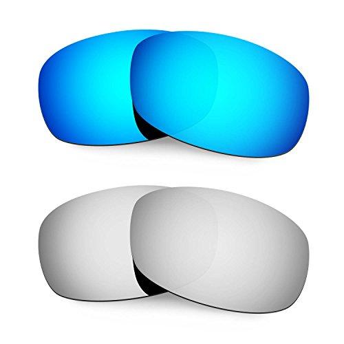 HKUCO Mens Replacement Lenses For Costa Brine Blue/Black/Titanium Sunglasses bk08USZ