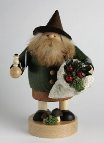 KWO Wood Gnome German Christmas Incense Smoker Handcrafted in Germany New