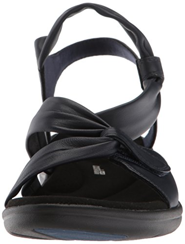 leather Saylie Moon Women's Clarks navy Sandals fZxTgwnXwq