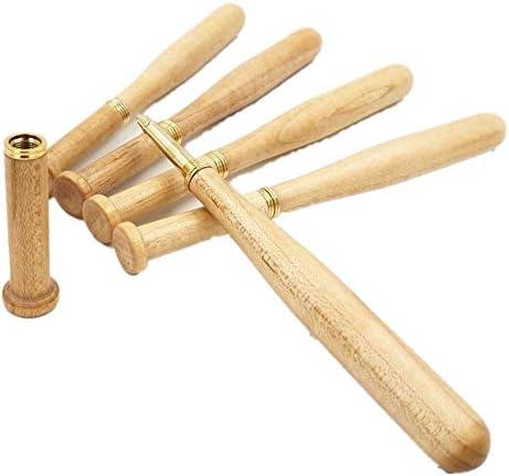 Maple Baseball Kugelschreiber aus Holz Kugelschreiber Business-Stift Schreiben Fließend Handmade Briefpapier Kalligraphie Tinte Refill-Business-Stift