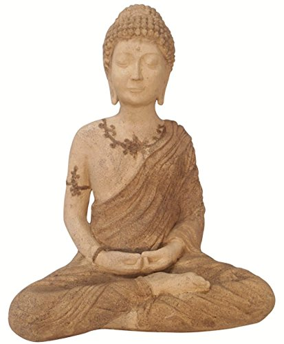 23'' H. Meditating Stone Garden Buddha by Oriental Furnishings
